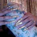 Gold Leaf Super Long Nails