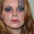 Broken Cyborg Makeup