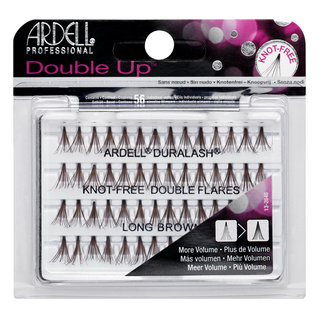 Double Up Individuals Knot-Free Lashes Long Brown