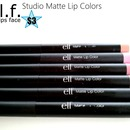 Review/Swatches on ELF Studio Matte Lip Colors