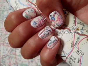 I was so excited about these map nails that I did.  I even shared how to do them with everyone through a video tutorial.