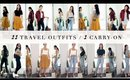 11 TRAVEL OUTFITS | MIX + MATCH  - 1 CARRY-ON LUGGAGE | ANN LE