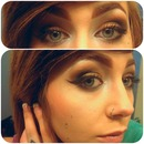 Brown and copper smokey eye