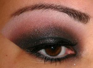 Inspired by Kim Kardashian's Smokey Eye.