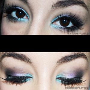 This is my makeup for the Spring 2012 trends with pastels.  I've been rocking this for a while, and definitely did for my Easter holiday!