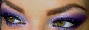 purple smokey eye x