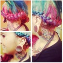 Rainbow braid!