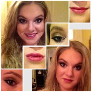 I used the Naked 2 Palette and a lipstick from Lancome, gloss from Buxom
