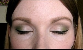 Champagne and Green Eyeshadow Tutorial