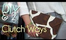 Make 2 No Sew Clutch | Easy & Fast Purse/Case/Envelope