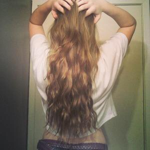 My wavey hair