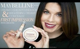 Maybelline Dream Cushion Foundation & Brightening Concealer | First Impression w/ Check-ins