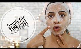 I Used the same sheet Mask TWICE! | superwowstyle