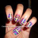 Colorful Geometric Nail Design