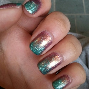 OPI - Rally Pretty Pink and Coastal Scents turquoise glitter ombre