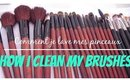 Comment je lave mes pinceaux  l  How i clean my brushes