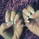 French Nails/Nail Art/Nails/Flower/Nude Nailsa