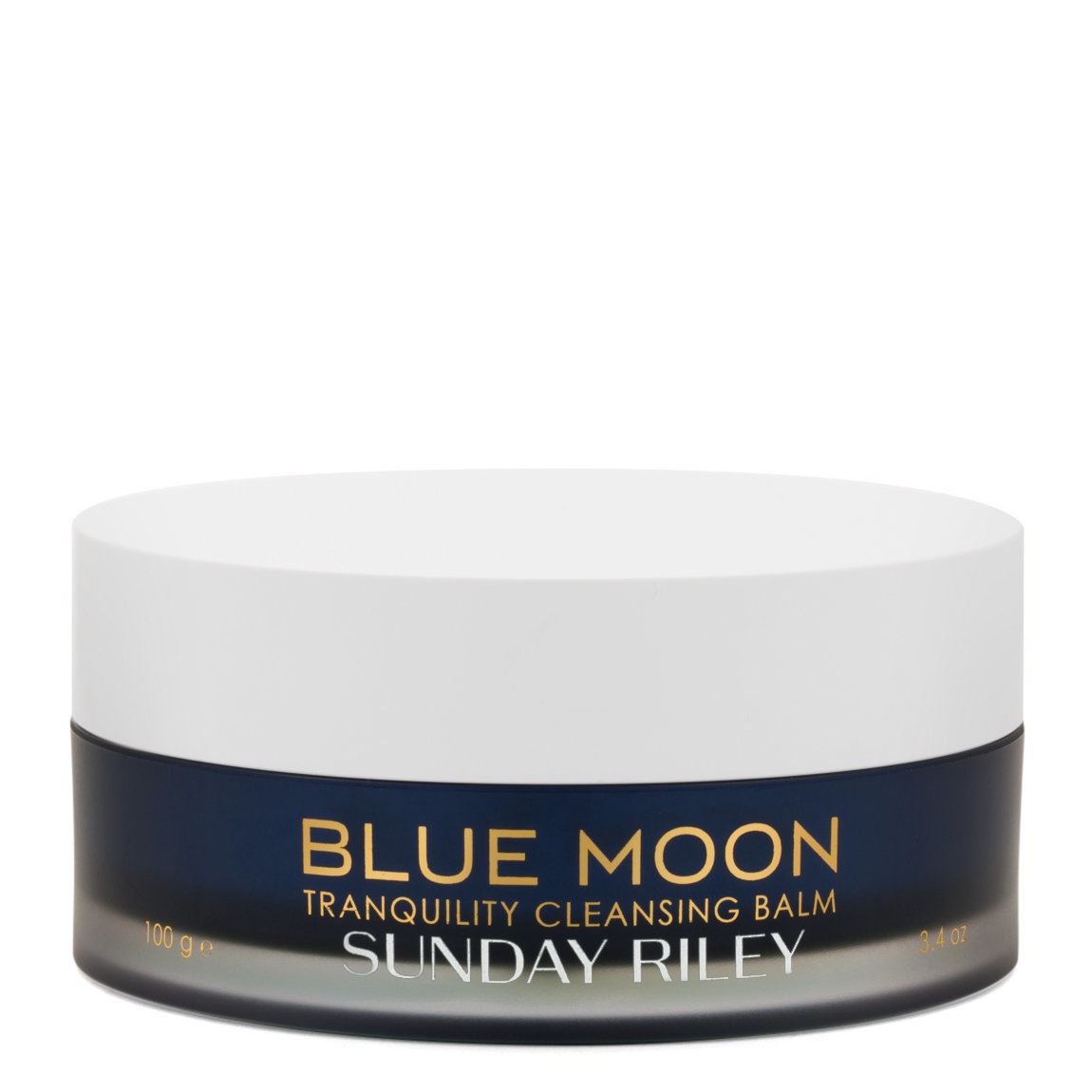 Sunday Riley Blue Moon Tranquility Cleansing Balm product swatch.