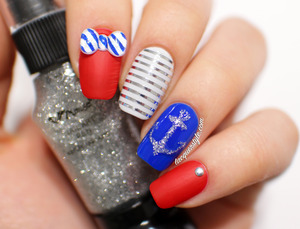 More photos & info here: http://www.lacquerstyle.com/2014/02/nautical-nail-art-featuring-simply.html