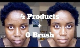 NO BRUSH + 4 PRODUCTS ONLY MAKEUP CHALLENGE | RosemaryBeauty
