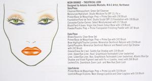 Neon Orange - Theatrical Look