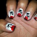 Malibu Rum Inspired Nails