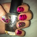 Leopard and Zebra Print Nails