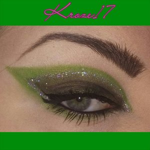 This reminds me of a Glamorous Swampy Super Hero! What colors would you use if you fought for justice?  I used:  Glamourdolleyes Oddity  Lorac Pro Palette 2 (Jade)  Lit Cosmetics Tinsel Town  NYX Noir Liquid Liner  Loreal Lash Out Butterfly Mascara  #Glamourdolleyes #GDE #loraccosmetics #propalette2 #green #oddity #jade #loreal #litcosmetics #tinseltown #makeup #makeuplook #Beautyshot #beautyproducts #beauty #cosmetics #glitter #instamakeup #instabeauty #kroze17