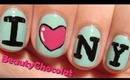 I ♥ NY - Easy Nail Art Tutorial - I Love NY Nails - bornprettystore review