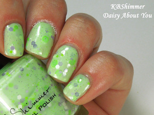 KBShimmer Daisy About You from the 2014 Spring Collection. More info can be found on my blog: http://www.lacquermesilly.com/2014/03/17/kbshimmer-spring-2014-collection/