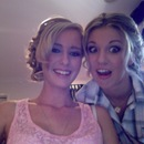 Aimee and I getting ready for our Ball :)