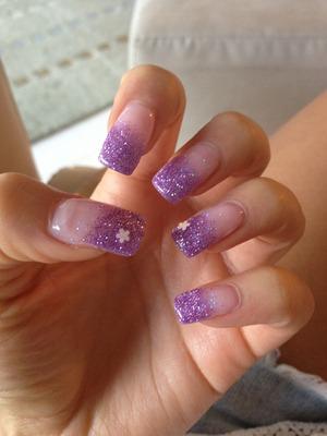 Purple to white iridescent fade