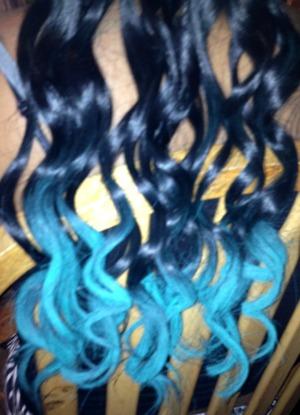 Chalked hair