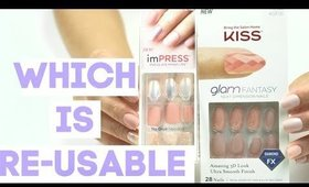 ARE THEY RE-USABLE? | IMPRESS vs. KISS NAIL Part 2