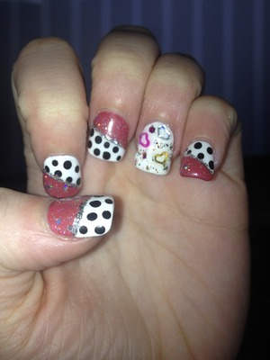 Over the top polka dot nails