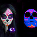 Black Light Sugar Skull (with tutorial)