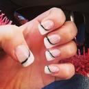 Acrylic nails, powder, gel finish