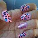 Glitter Painted Cheetahs