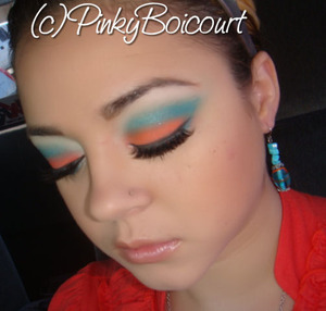 Miami Dolphins Inspired tutorial