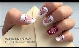Valentine's Day nail art: Polish Remover Hearts