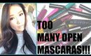 TOO MANY OPEN MASCARAS! | MAKEUP COLLECTION CLEAN OUT Part 4 | hollyannaeree