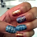Newspaper print on nails