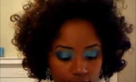 Tutorial: Electric Blue FOTD