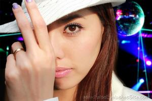 New Year's (2012) look! Wearing Elegant Lashes D099 Glitter band false eyelashes. ^O^ Ready to partaaaay!