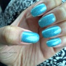 Pale Blue With Holographic Shimmer