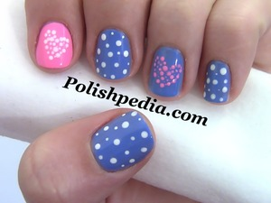At the request of some of our fans I decided to jump the gun and give you a Valentines day design!  Watch The Video Tutorial @ http://polishpedia.com/polka-dot-hearts-valentines-nail-art.html