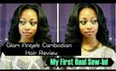 Glam Angels Cambodian Straight Hair Initial Review (My First Real Sew-In!)