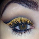 Gold Glitter Holiday Glam