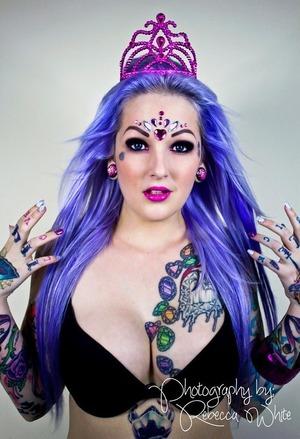 https://www.facebook.com/jstoddartmub  Photographer: Rebecca White. Model: Lizzi 'Rocket' Valentine. Make Up (Excluding Gems): me, Jess Stoddart. Hair Stylist: Kristi Shuttleworth.