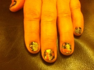 My favorite type of nail design! It's easy but looks good at the same time. :)